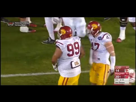Antwaun Woods - USC Football - NT - 2015 Wisconsin Game
