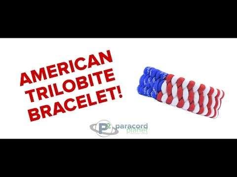 How To Make A Trilobite American Flag Bracelet