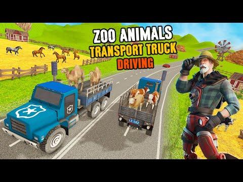 Zoo Animals Transport Truck