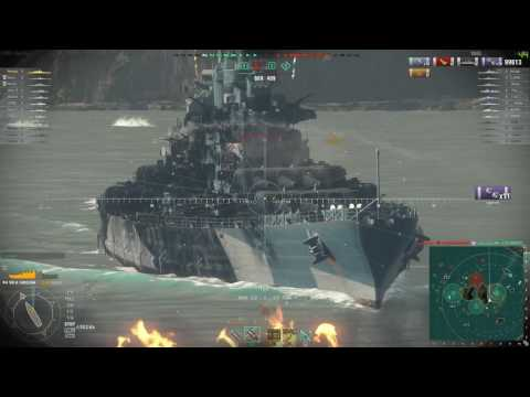 World of Warships - [Tier VIII] USS North Carolina on Two Brothers [2017.04.04], Build 0.6.3.0