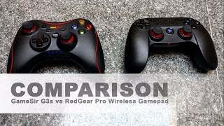 GameSir G3s vs RedGear Pro Series Wireless Gamepad : Gameplay Comparison