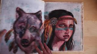 A watercolour journey on canvas