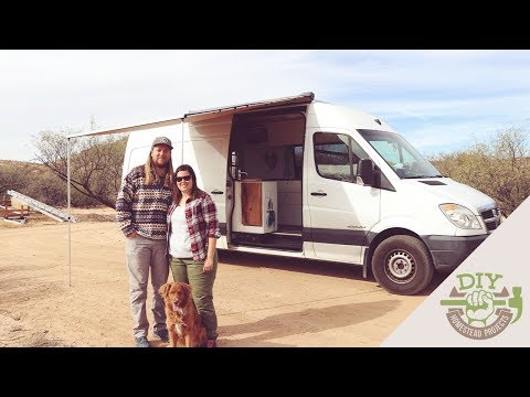 Couple Sells Everything & Builds DIY Stealth Sprinter Van