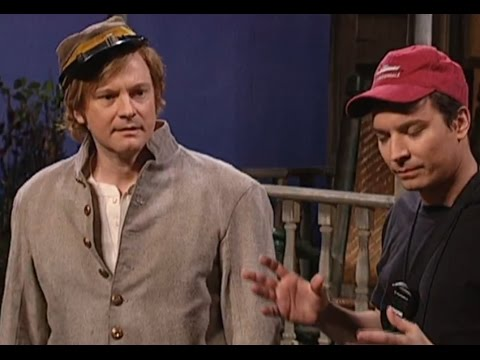 COLIN FIRTH in a comedy sketch with Jimmy FALLON