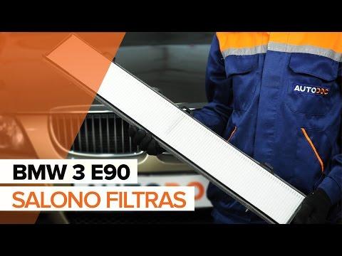 Kaip pakeisti Salono filtras BMW 3 E90 PAMOKA | AUTODOC