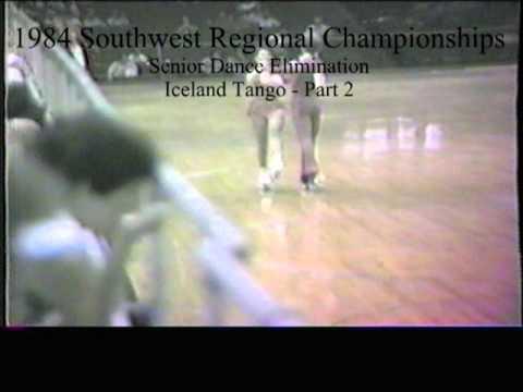 1984 Southwest Regional Roller Skating Championships - Senior Dance Elimination - Iceland Tango2