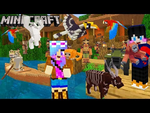 MineCraft ท่องเที่ยวในป่าดงพงไพรลึกลับในหมู่บ้านชนเผ่าสุดพิศวง
