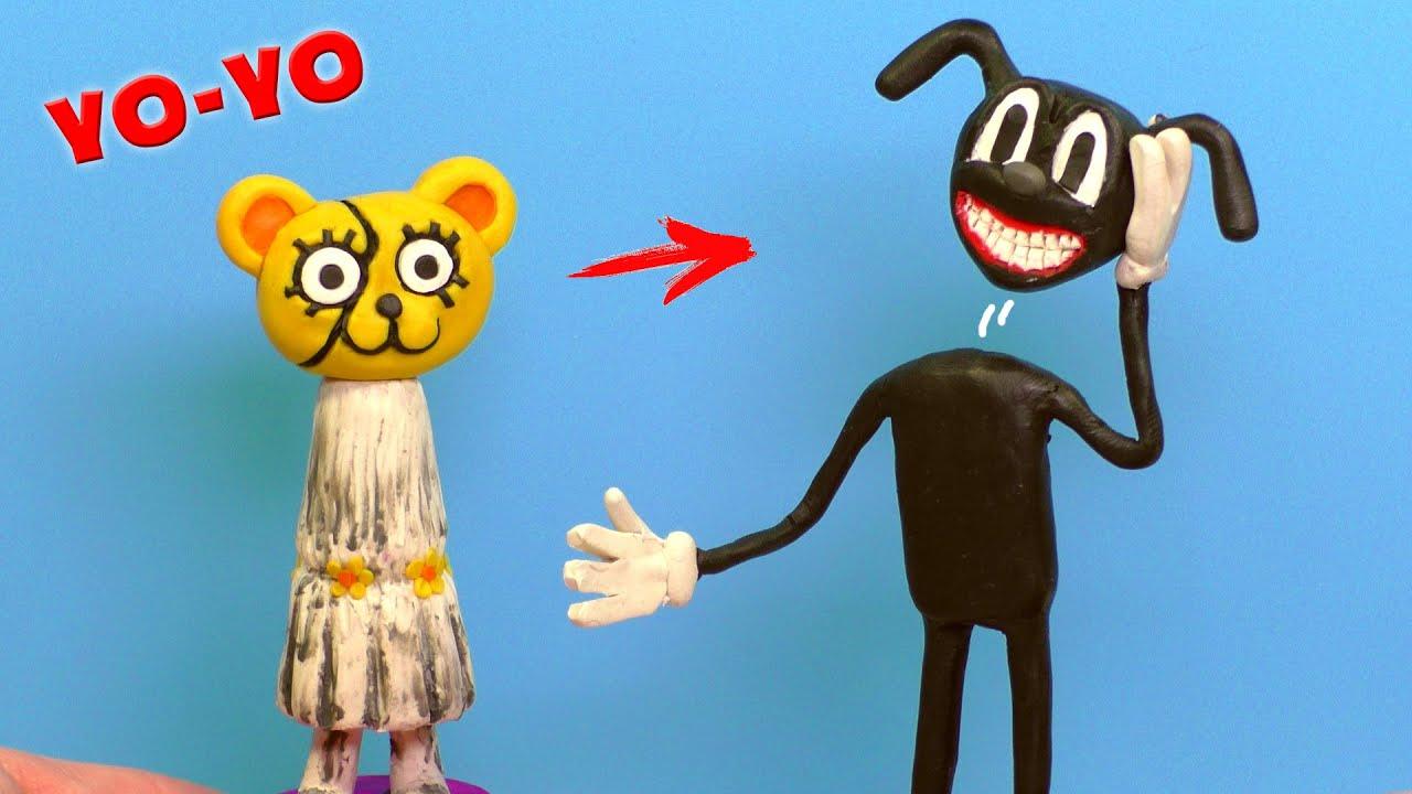 Making Cartoon Catdog And Cartoon Girl Yo Yo With Clay Trevor