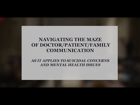 Suicidal Ideation Family Teams Panel Discussion - Beaumont Hospital - March 23, 2016