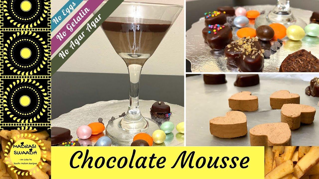 Easy Chocolate Mousse Recipe in Hindi / चॉकलेट मूस / No ...