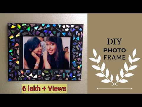 DIY CD photo frame|recycle waste cd's|