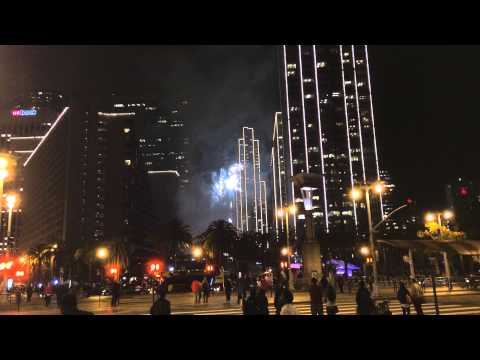 Embarcadero Center Holiday Fireworks 2014