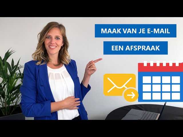 Outlook e-mail toevoegen aan agenda