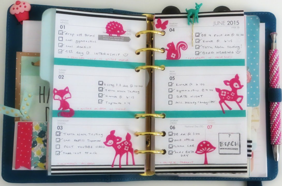 June 1 7 Weekly Planner Decoration In Kikki K Youtube