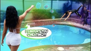 Throwing His Phone Into The Pool For Cheating On Me! He Jumped In Fully Dressed