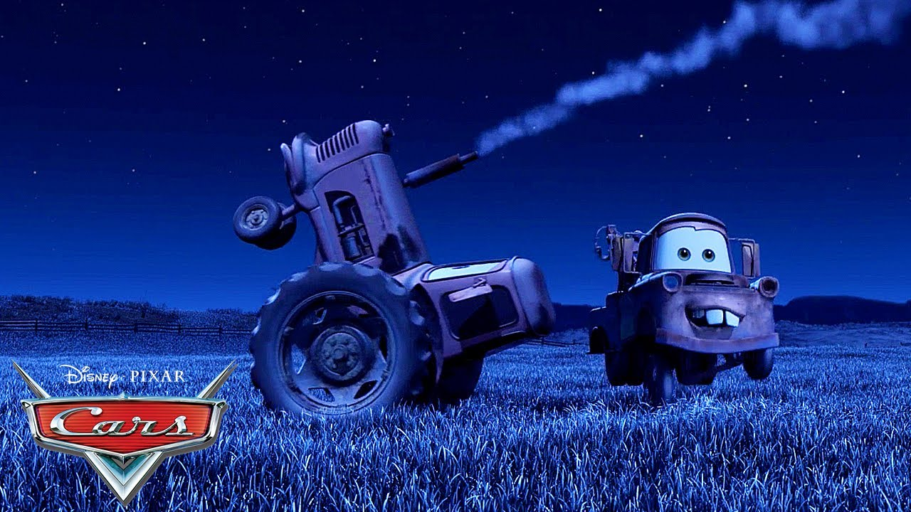 Tractor Tipping With Mater And Lightning Mcqueen Pixar Cars
