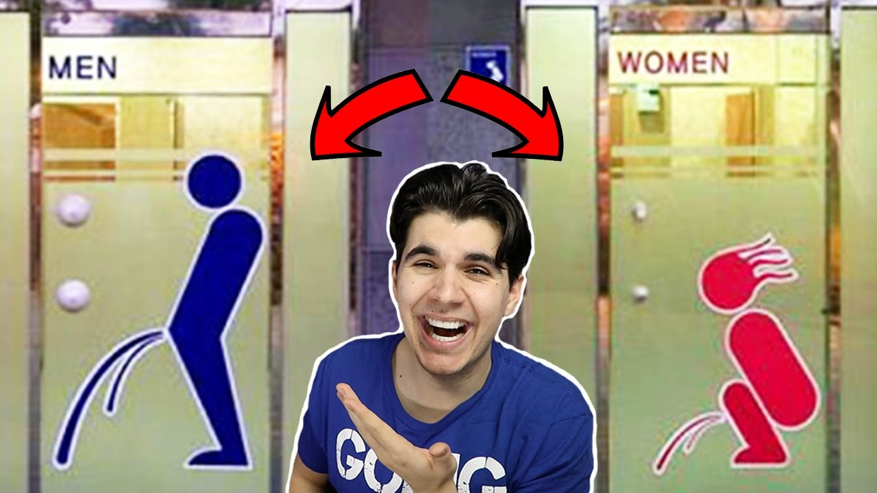 Women's Bathroom Sign You Can't Unsee most hilarious bathroom signs ever! - youtube