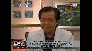 SONA: Senatorial candidate Dr. Willie Ong, ginamit sa kampanya ang impluwensiya niya sa social media
