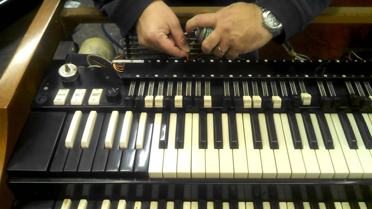 Todd & I cleaning the drawbars on a Hammond A100