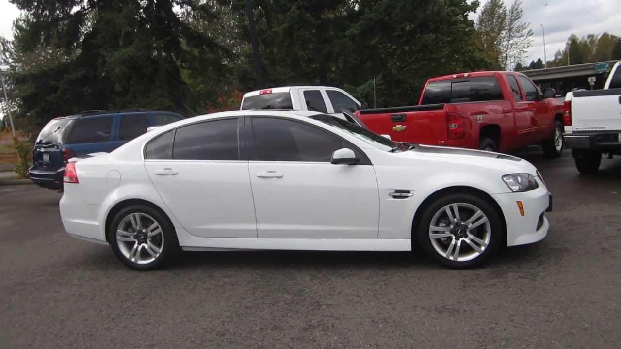 2008 pontiac g8 summit white stock c1308322 walk around