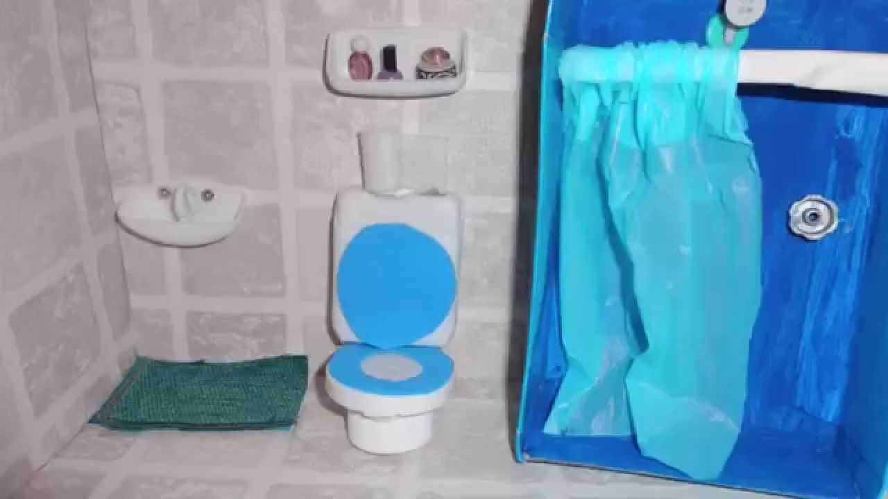 Miniature Dollhouse Bathroom Tour YouTube
