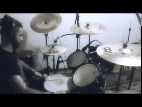 Dio Britto recording drums for HORROR CHAMBER