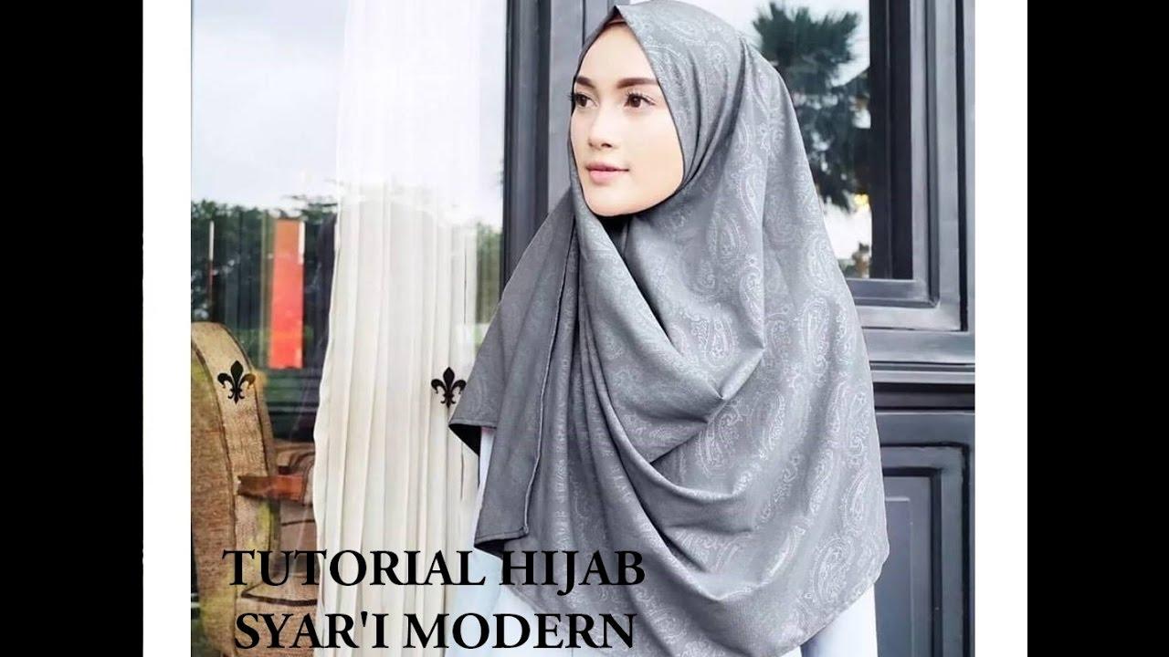 Tutorial Hijab Syari Dengan Pastan Segiempat Shabby YouTube