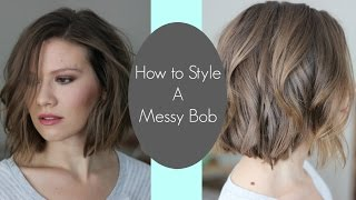 How I Style My Messy Bob // Laura's Natural Life