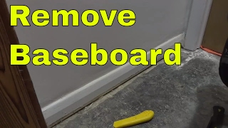 How To Remove Baseboard Trim-Tutorial