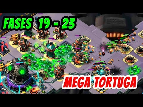 Mega Tortuga Fases 19 - 23 | Boom Beach Español