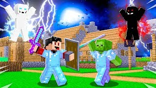 The SHIELD OF RAGE vs TRIDENT OF DARKNESS in Minecraft! (Realms SMP - Episode 35)