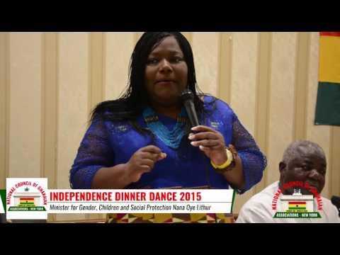 Minister for Gender, Children and Social Protection speaks at NCOGA Dinner Dance 2015