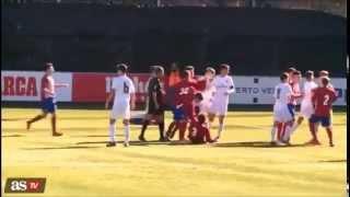 Zidan's Son HeadButts gets RED Card Lucas Zidane