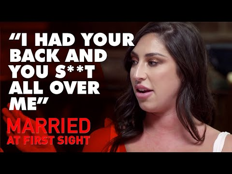 'You spoilt b****': Mick and Tam's furious reaction to Jess and Dan's affair | MAFS 2019