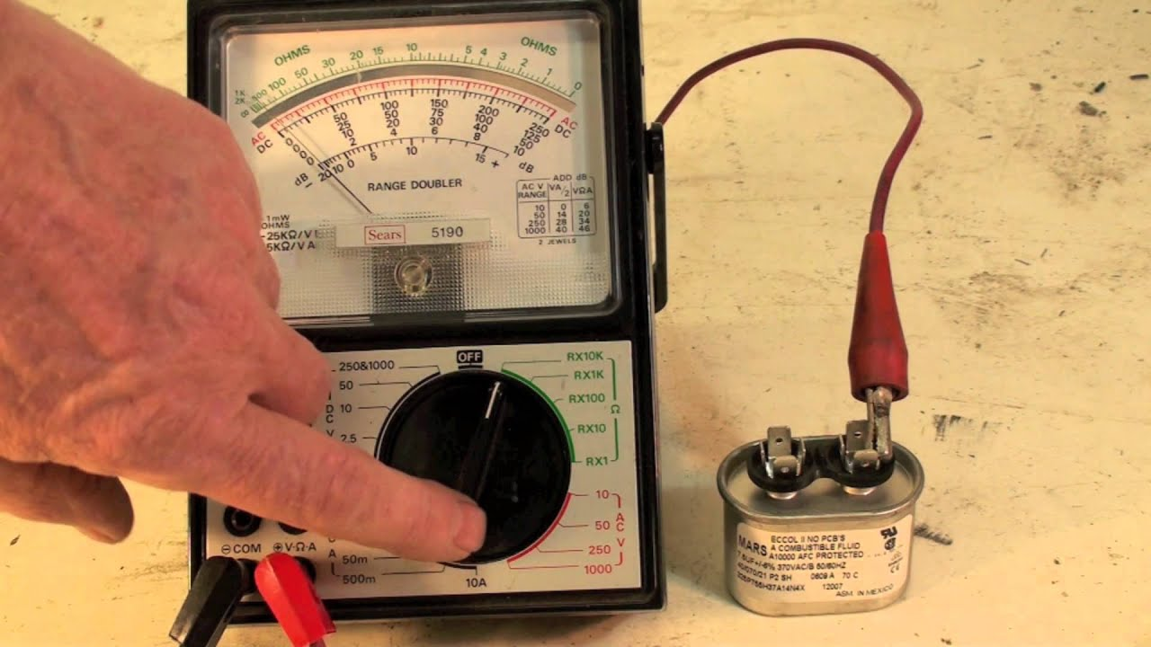 Check Ac Capacitor With Multimeter : How to check the capacitor with an analog meter doovi