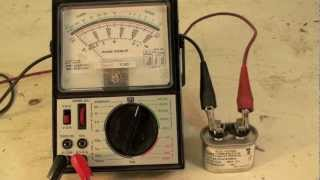 How to check the capacitor with an analog meter