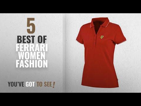 Ferrari Women Fashion [2018 Best Sellers]: Scuderia Ferrari Formula 1 Women's Red Classic Polo F1