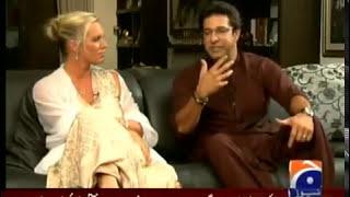 waseem akram with kapil sharma and with wife shaniera akram