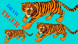 How To Draw Tiger Step By Step| The Best New Animal Videos|Draw Tiger For Kids
