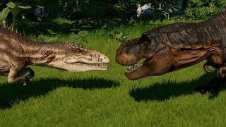 T-Rex vs Carcharodontosaurus, Spinosaurus, Indominus, Indoraptor, Spinoraptor, Giganotosaurus & Allo