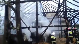 Pożar stodoły.