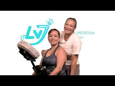 Chair Massage LV7 massage + Luisa Vargas, LMT-PSYch