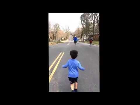 Carlo, Little runner. 5K race