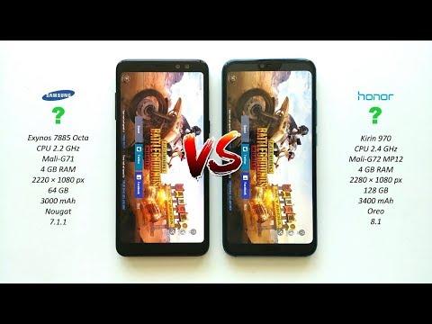 Honor 10 vs Samsung Galaxy A8 2018 - Speed Test!