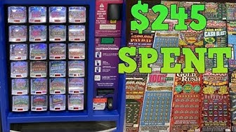 BUYING ALL THE LOTTERY TICKETS IN THE LOTTERY MACHINE!!??