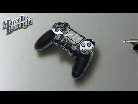 Drawing Time Lapse: DualShock 4 Ps4 – hyperrealistic art