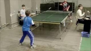 """Настільний теніс: несподівана перемога 8-річного """"Давида"""" над 12-річним """"Голіафом""""))))"""