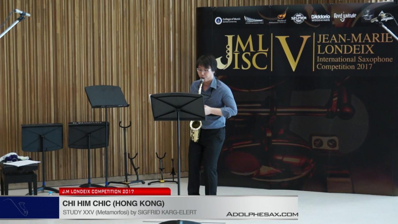 Londeix 2017 - Chi Him Chik (Hong Kong) - XXV Metamorfosi by Sigfrid Karg Elert
