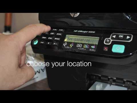 HP Officejet 4500 Hardware Setup - YouTube