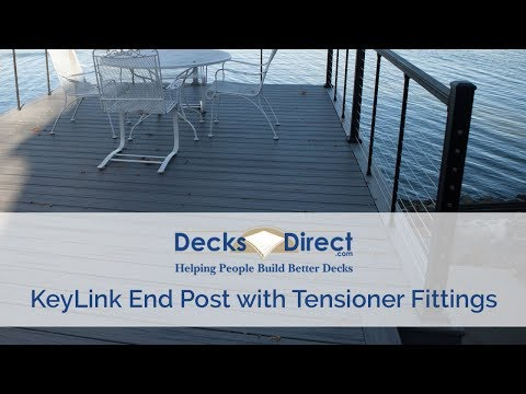 Cable Railing End Post With Tensioner Fittings by KeyLink